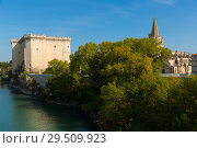 Купить «Chateau de Tarascon and Gothic Church on Rhone River, France», фото № 29509923, снято 13 октября 2018 г. (c) Яков Филимонов / Фотобанк Лори