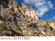 Купить «Caves Vardzia Monastery in Georgia, on slope of Mount Erusheti», фото № 29511983, снято 25 сентября 2018 г. (c) Юлия Бабкина / Фотобанк Лори