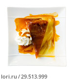 Купить «Apple pie with whipped cream», фото № 29513999, снято 6 октября 2018 г. (c) Яков Филимонов / Фотобанк Лори
