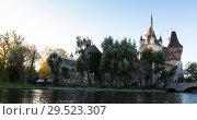 Купить «Vajdahunyad Castle, Budapest», фото № 29523307, снято 30 октября 2017 г. (c) Яков Филимонов / Фотобанк Лори