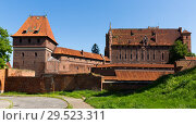 Купить «Gothic Castle of Teutonic Knights, Malbork», фото № 29523311, снято 13 мая 2018 г. (c) Яков Филимонов / Фотобанк Лори