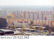 Купить «European city Bratislava with view of blocks of flats, Slovakia», фото № 29523343, снято 3 ноября 2017 г. (c) Яков Филимонов / Фотобанк Лори
