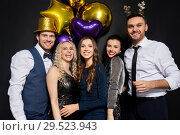 Купить «friends at christmas or new year party», фото № 29523943, снято 3 марта 2018 г. (c) Syda Productions / Фотобанк Лори