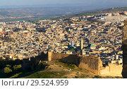 Купить «Aerial view on Medina in Fes, Morocco», фото № 29524959, снято 15 февраля 2018 г. (c) Михаил Коханчиков / Фотобанк Лори