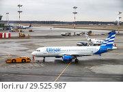 Купить «Ellinair Airbus A320», фото № 29525987, снято 14 ноября 2018 г. (c) Art Konovalov / Фотобанк Лори