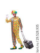 Купить «Funny clown isolated on white background», фото № 29528935, снято 28 сентября 2018 г. (c) Elnur / Фотобанк Лори
