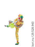 Купить «Funny clown isolated on white background», фото № 29528943, снято 28 сентября 2018 г. (c) Elnur / Фотобанк Лори