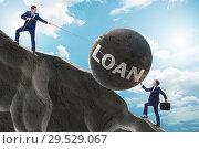 Купить «Business concept of debt and borrowing», фото № 29529067, снято 15 декабря 2018 г. (c) Elnur / Фотобанк Лори