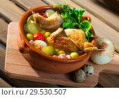 Купить «Soup with poultry», фото № 29530507, снято 21 июля 2019 г. (c) Яков Филимонов / Фотобанк Лори