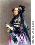 Купить «Chalon Alfred Edward - Portrait of Ada King Countess of Lovelace (Ada Lovelace Daughter of Lord Byron).», фото № 29534851, снято 11 декабря 2018 г. (c) age Fotostock / Фотобанк Лори