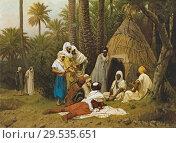 Boulanger Gustave - El Hiasseub Conteur Arabe. Редакционное фото, фотограф Artepics / age Fotostock / Фотобанк Лори