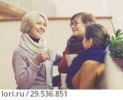 Female having tea on terrace. Стоковое фото, фотограф Яков Филимонов / Фотобанк Лори