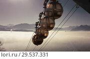 Купить «Aerial city view of Grenoble with cable car, France», фото № 29537331, снято 7 декабря 2017 г. (c) Яков Филимонов / Фотобанк Лори