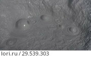 Купить «Boiling aggressive hot mud pot, thermal field on crater active volcano», видеоролик № 29539303, снято 26 сентября 2018 г. (c) А. А. Пирагис / Фотобанк Лори