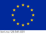 Купить «Flag of the European Union.», фото № 29541031, снято 1 ноября 2018 г. (c) age Fotostock / Фотобанк Лори