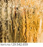 Beautiful golden ice background on the glass in the sun. Стоковое фото, фотограф Валерий Смирнов / Фотобанк Лори