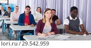 Купить «Students at extension courses», фото № 29542959, снято 8 мая 2018 г. (c) Яков Филимонов / Фотобанк Лори