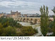 Roman bridge over the Guadalquivir and Mesquite in Cordoba. (2018 год). Редакционное фото, фотограф Сергей Дрозд / Фотобанк Лори