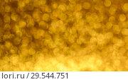 Купить «Yellow Christmas or New Year background», видеоролик № 29544751, снято 9 декабря 2018 г. (c) Сергей Петерман / Фотобанк Лори