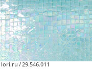 Купить «turquoise water in tiled swimming pool», фото № 29546011, снято 18 февраля 2018 г. (c) Syda Productions / Фотобанк Лори