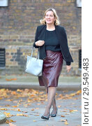 Купить «Amber Rudd MP (Con: Hastings and Rye) arriving in Downing Street, London, UK, 13/11/2018.», фото № 29549483, снято 13 ноября 2018 г. (c) age Fotostock / Фотобанк Лори