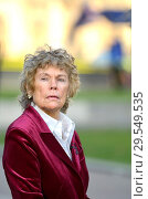 Купить «Kate Hoey MP (Labour: Vauxhall) being interviewed on College Green, Westminster, November 2018.», фото № 29549535, снято 14 ноября 2018 г. (c) age Fotostock / Фотобанк Лори