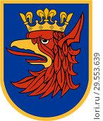 Купить «Герб города Щецин. Польша», иллюстрация № 29553639 (c) Владимир Макеев / Фотобанк Лори