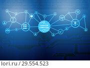 Купить «Quantum computing as modern technology concept», фото № 29554523, снято 20 марта 2019 г. (c) Elnur / Фотобанк Лори