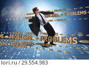 Купить «Business problem and challenge concept with businessman», фото № 29554983, снято 15 декабря 2018 г. (c) Elnur / Фотобанк Лори