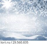 Купить «Winter holiday background», фото № 29560835, снято 1 декабря 2018 г. (c) Икан Леонид / Фотобанк Лори