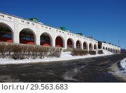 Купить «Гостиный двор в Зарайске», фото № 29563683, снято 9 марта 2018 г. (c) Natalya Sidorova / Фотобанк Лори