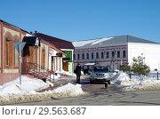 Купить «Зарайск, улица Красноармейская зимой», фото № 29563687, снято 9 марта 2018 г. (c) Natalya Sidorova / Фотобанк Лори