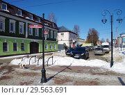 Купить «Зарайск, улица Красноармейская зимой», фото № 29563691, снято 9 марта 2018 г. (c) Natalya Sidorova / Фотобанк Лори