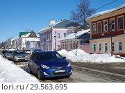 Купить «Зарайск, улица Красноармейская зимой», фото № 29563695, снято 9 марта 2018 г. (c) Natalya Sidorova / Фотобанк Лори