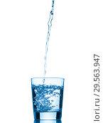 Купить «water splashing from glass isolated on white background», фото № 29563947, снято 6 февраля 2017 г. (c) Ольга Сергеева / Фотобанк Лори