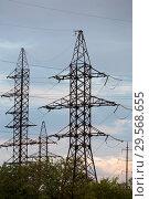 Купить «Republic of Moldova, power pylons», фото № 29568655, снято 30 августа 2016 г. (c) Caro Photoagency / Фотобанк Лори