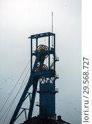 Купить «Poland, Bytom (Bytom) - winding tower of the disused KWK Szombierki colliery», фото № 29568727, снято 28 февраля 2018 г. (c) Caro Photoagency / Фотобанк Лори