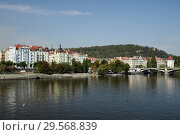 Prague, Hlavni mesto Praha, Czech Republic - Lesser Town on the Vltava. (2018 год). Редакционное фото, агентство Caro Photoagency / Фотобанк Лори
