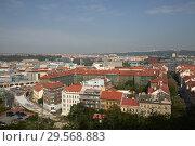 Prague, Hlavni mesto Praha, Czech Republic - View of Karlin. The former Karlin barracks becomes a cultural site. (2018 год). Редакционное фото, агентство Caro Photoagency / Фотобанк Лори