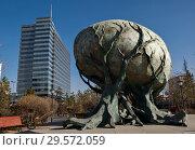 Купить «Монумент в честь 11-го форума «Азия — Европа» в Улан-Баторе, Монголия», фото № 29572059, снято 10 ноября 2018 г. (c) Евгений Прокофьев / Фотобанк Лори