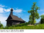 Купить «Wooden church, Kazimierz Biskupi, Poland», фото № 29573499, снято 11 мая 2018 г. (c) Яков Филимонов / Фотобанк Лори