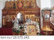 Купить «Престольный праздник в Бобреневе монастыре», эксклюзивное фото № 29575243, снято 21 сентября 2018 г. (c) Дмитрий Неумоин / Фотобанк Лори