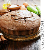 Купить «Zucchini cake with cocoa powder», фото № 29577091, снято 13 октября 2018 г. (c) Надежда Мишкова / Фотобанк Лори