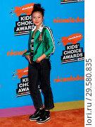 2018 Nickelodeon Kids' Choice Awards, held at The Forum in Inglewood... Редакционное фото, фотограф Nicky Nelson / WENN.com / age Fotostock / Фотобанк Лори