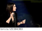 Купить «Italian singer Laura Pausini during the tv show Che tempo che fa, Milan, ITALY-16-12-2018.», фото № 29584983, снято 16 декабря 2018 г. (c) age Fotostock / Фотобанк Лори