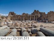 Купить «Древние колонны в руинах города Сиде, Турция», фото № 29591511, снято 10 сентября 2018 г. (c) Ольга Сейфутдинова / Фотобанк Лори