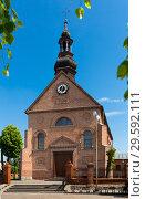 Купить «Old landmark Sw. Marcina Church is located in Poland», фото № 29592111, снято 11 мая 2018 г. (c) Яков Филимонов / Фотобанк Лори
