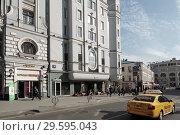 Москва, фрагмент дома Соколовых на Мясницкой улице (2017 год). Редакционное фото, фотограф Дмитрий Неумоин / Фотобанк Лори