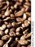 Купить «Кофейные зерна крупным планом», фото № 29595603, снято 22 сентября 2011 г. (c) Александр Гаценко / Фотобанк Лори