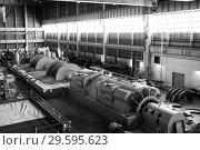 Купить «Котлотурбинный цех. Установка новой турбины», фото № 29595623, снято 2 июня 2008 г. (c) Александр Гаценко / Фотобанк Лори